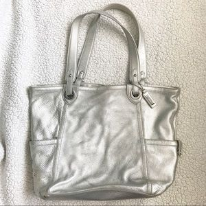 Cole Haan Silver Tote